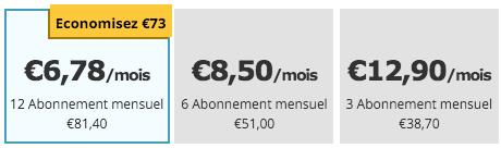 prix abonnement POF