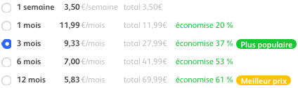 badoo prix