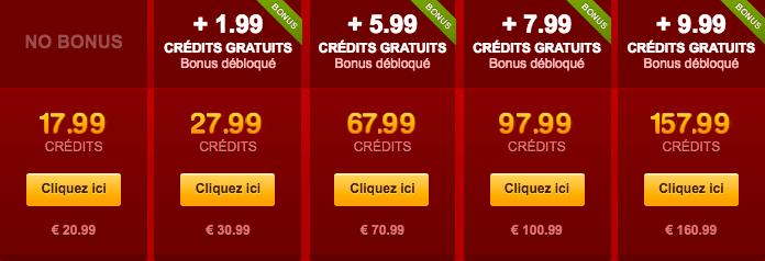 credit gratuit livejasmin