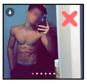 Le selfie n'est pas recommandé sur une photo Tinder.