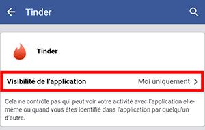 visibilité tinder facebook