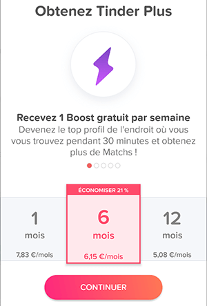 tinder plus boost